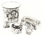mexican hand painted toilet bathroom set