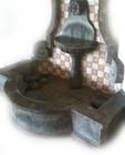 cantera wall fountain basin
