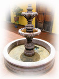 mexican stone fountain