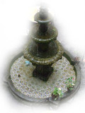Spanish stone fountain