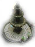 Spanish stone fountain