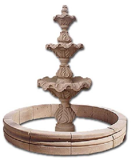 free standing stone fountain