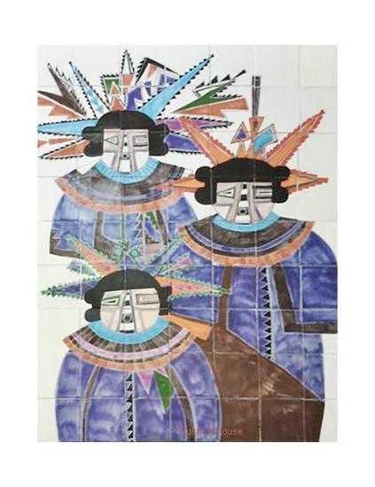 new spain warriors wall tile mural
