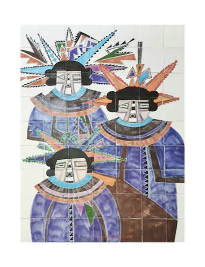 new spain warriors wall tile mural