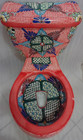 mexican decorated toilet front veiw