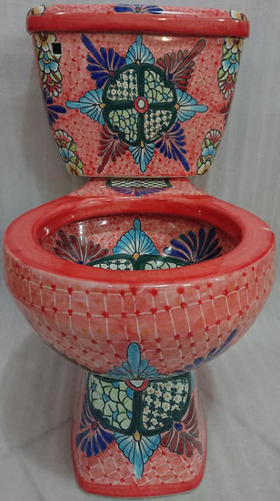 mexican decorative toilet