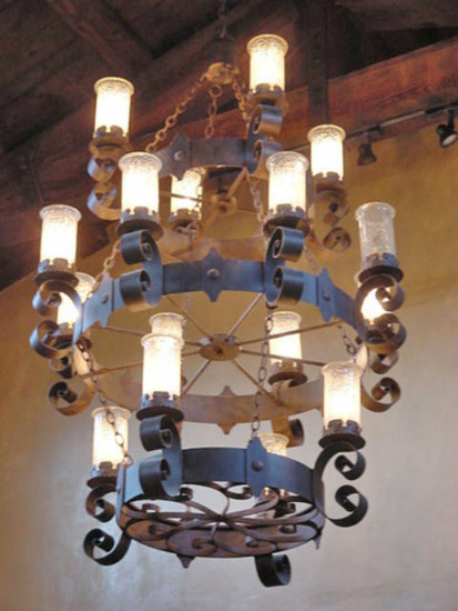 americana iron chandelier