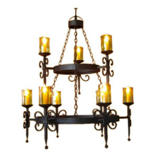 spanish iron chandelier