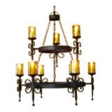 spanish iron chandelier