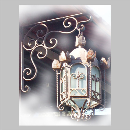 decorative outdoor iron lantern