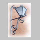 colonial outdoor iron lantern