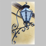 country outdoor iron lantern
