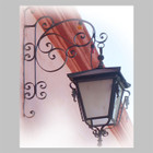 spanish outdoor iron lantern