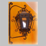 hand forged outdoor iron lantern