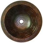 round hammered copper bath sink
