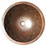 round handmade copper bath sink