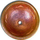 round custom copper bath sink