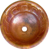 round colonial copper bath sink