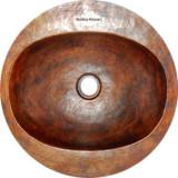 round hacienda copper bath sink