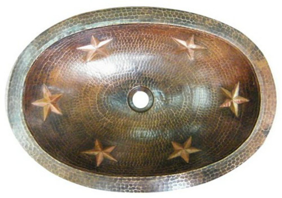 oval mexican copper bath sink