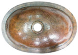 oval custom copper bath sink