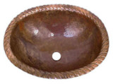 oval made to order copper bath sink