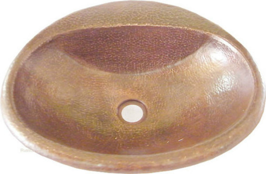 oval traditional copper bath sink