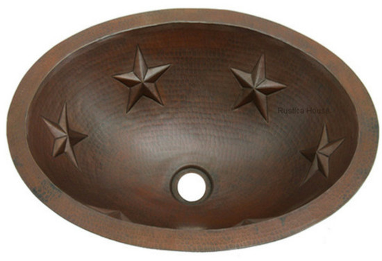 handcrafted oval copper sink for a bathroom