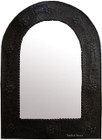 dark frame arch tin mirror