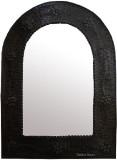 dark frame arch tin mirror