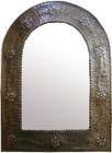 rustic arch tin mirror