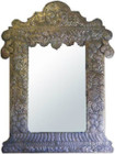 rustic punched tin mirror