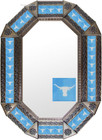 Old metal mirror southeast frame tiles