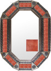 Old metal mirror modern frame tiles