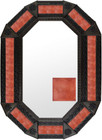 Metal mirror modern octagonal frame with tiles