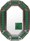 Old metal mirror mexican frame tiles