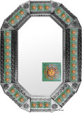 metal tin mirror tile handmade
