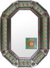 old metal tin mirror handmade