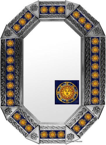 Metal mirror old world