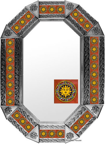 Metal mirror classic colonial