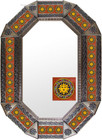 Old metal mirror classic colonial frame tiles