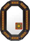 Metal mirror classic colonial octagonal frame with tiles