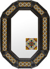 Metal mirror Guanajuato octagonal frame with tiles