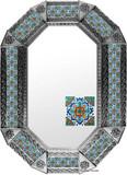 Metal mirror colonial hacienda