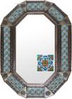 Old metal mirror colonial hacienda frame tiles