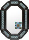 Metal mirror colonial hacienda octagonal frame with tiles