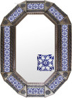 Old metal mirror Spanish frame tiles