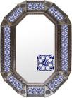 Old metal mirror Spanish frame tiles