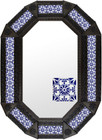 Metal mirror Spanish octagonal frame with tiles