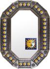 Old metal mirror ^San Miguel de Allende frame tiles